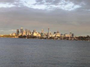 Sydney at sunset from Woolwich
