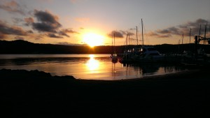 Sunset at Gosford Sailing Club