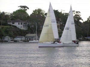The Vice Commodore wins the Green Fleet start