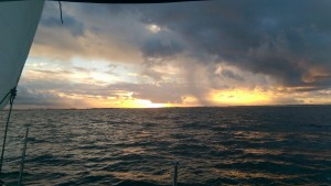 A dry sunset on the return voyage from Port Stephens