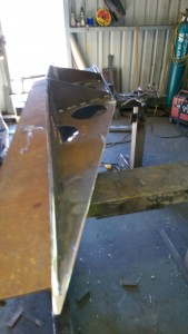 Didi 40 Cr keel bulb ready for plating with 3 mm plate.