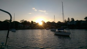 The sun sets on a great day on the water