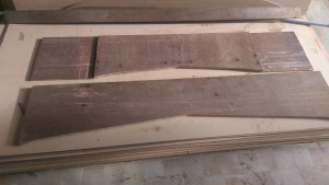 The 24 mm thick plywood frames that will be part of the cradle for our Didi 40 Cr