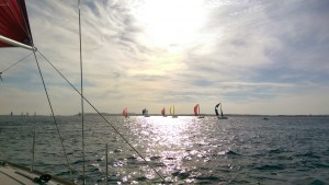 Running home after the last offshore race