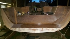 The sugar scoop stern ready for fibreglass, paint and a name