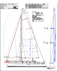 The very slightly larger rig on our Wide Stern Deep Keel version of the Didi 40 Cr
