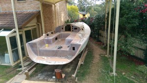 Our  Didi 40 Cr Passion X sanded ready for painting.