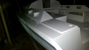 First glimpses of the finish on the cockpit coamings of our Didi 40 Cr