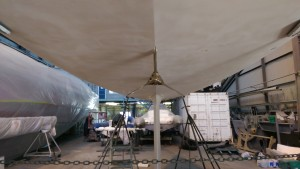 The three blade Hydralign feathering prop is fitted