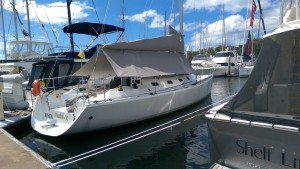 Passion X looking very comfortable on the marina at Port Stephens