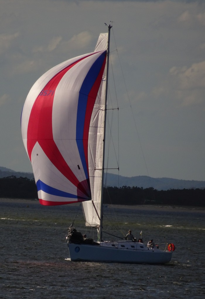 Our small spinnaker could not match it with the regatta competition