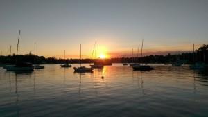 Sunset on a Sydney Autumn day