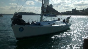 Passion X with bow out of the water. We need to watch the crew weight distribution.