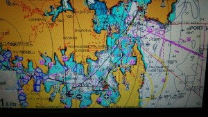 Nice tacking angles in circa 20 knots kept us close to the fleet on handicap