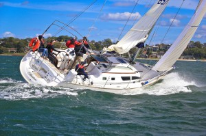 Classic photo of Passion from out first Sail Port Stephens Regatta