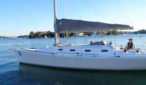 The new bowsprit on Passion X looks the part