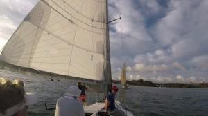 Nice trim on Flashback sails ahead