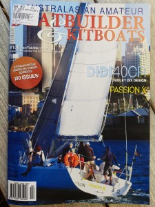 Australian Amateur Boat Building magazine cover shot of Passion X