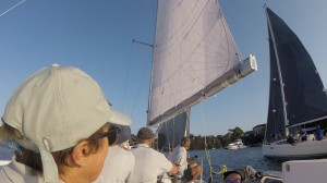 Meridian to leeward at the start