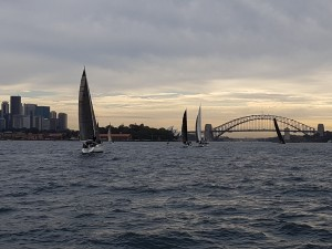 A wider shot of the fleet in front on the way home