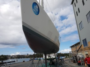 Passion X lifted for annual antifouling treatment