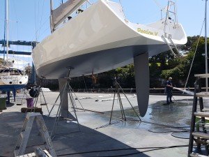 Another angle on the finished antifouling