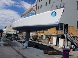 Waiting for the antifouling to harden before the relaunch