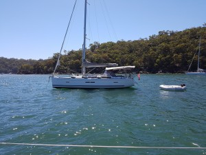 Fellow Laser sailor anchored at Cottage Rock