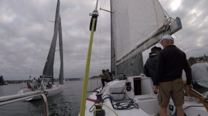 Much Ado V glides past to windward