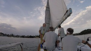 Genoa backing in the light and shifty winds