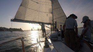 Chasing the fleet back to Cockatoo Island