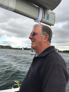 Ron on the mainsheet of one of the Passions