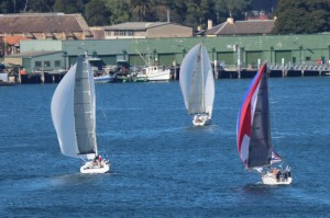 Three of the four yachts in front today photo courtesy Mark Palmer